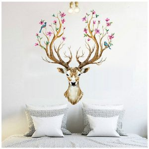 DIY-Sika-Deer-Head-Flowers-Wall-stickers-For-Living-Room-Art-Vinyl-Wall-Decals-For-Kids.jpg