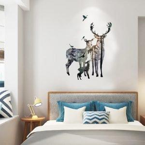 Fundecor-Elk-Forest-Silhouette-Wall-Stickers-Home-Decoration-Living-Room-Door-Children-kids-rooms-Vinyl-6.jpg