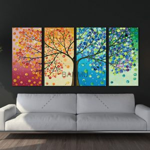 Unframed-Colourful-Leaf-Trees-Canvas-painting-4-Piece-Spray-painting-rectangle-Wall-Art-Modular-pictures.jpg