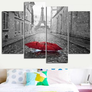 Wall-Art-Home-Decor-Frame-Canvas-Painting-Poster-4-Panel-City-Street-Snow-Landscape-For-Living.jpg