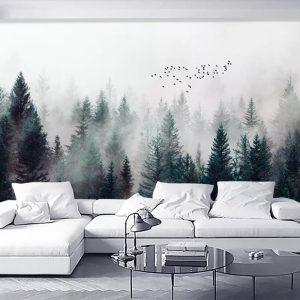 Beibehang-Custom-wallpaper-Modern-Fresh-Fog-Forest-Clouds-Flying-Bird-Nordic-TV-backdrop-3d-Living-room.jpg