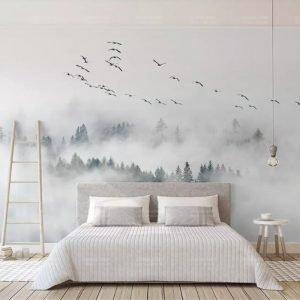 beibehang-Custom-Wallpaper-Photo-wall-mural-wallpaper-of-Bird-Pine-Forest-Clouds-wall-papel-de-parede.jpg