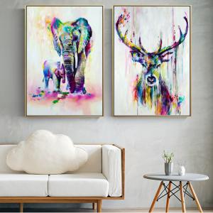 0-main-aquarelle-animaux-toile-art-peintures-murales-lphant-et-cerf-abstrait-graffiti-art-imprime-pop-art-affiches-murales-pour-chambre-denfants