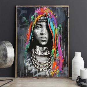0-main-femme-africaine-graffiti-portrait-art-toile-peinture-affiches-et-impressions-cuadros-mur-art-pour-salon-dcor–la-maison