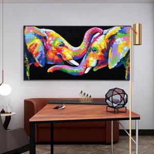0-main-mur-art-dcor-toile-peinture-abstraite-mignon-lphant-amant-affiche-impression-toile-art-photos-pour-chambre-denfants-dcoration-de-la-maison
